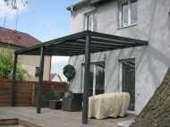 Pergola antracit RAL 7016 400 x 250 cm provedení DELUXE