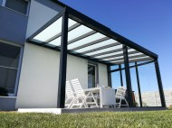 Pergola antracit RAL 7016 700 x 350 cm provedení DELUXE