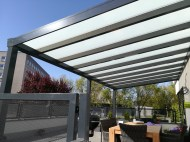 Pergola antracit RAL 7016 600 x 250 cm provedení DELUXE