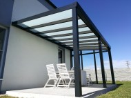 Pergola antracit RAL 7016 400 x 400 cm provedení DELUXE